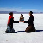 Bolivia Salt Flats levitate